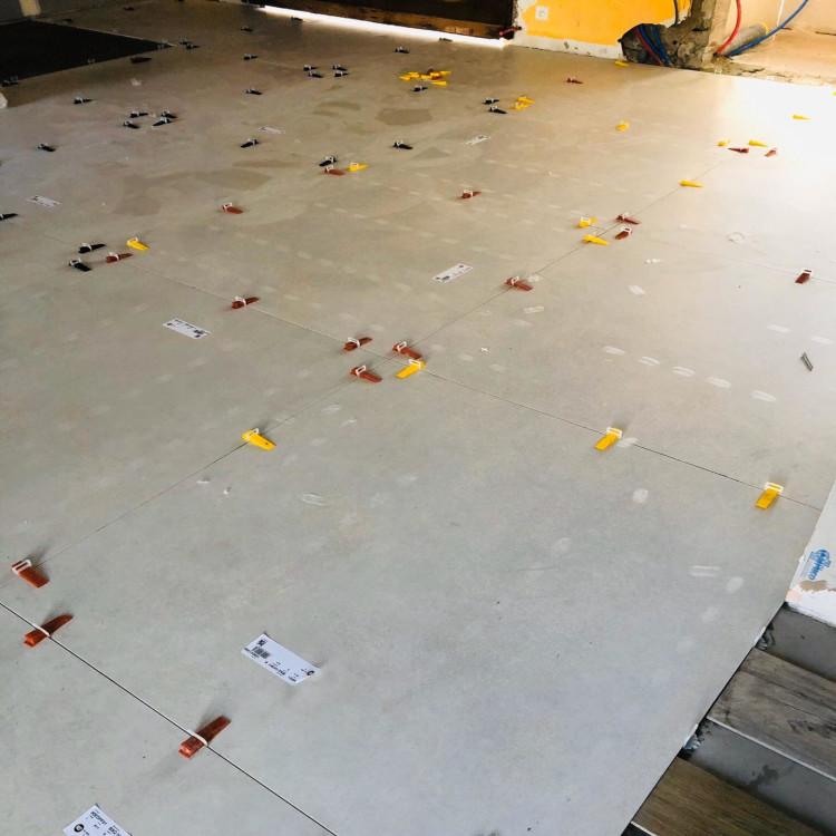 Lantai baru, belum boleh diinjak