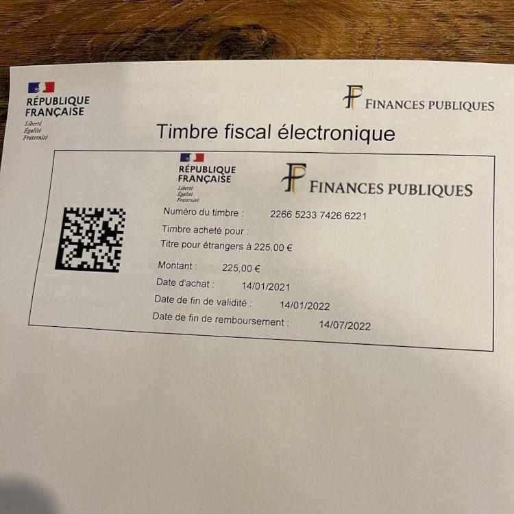 Timbre fiscal electronique, kali ini dengan jumlah pembayaran yang benar
