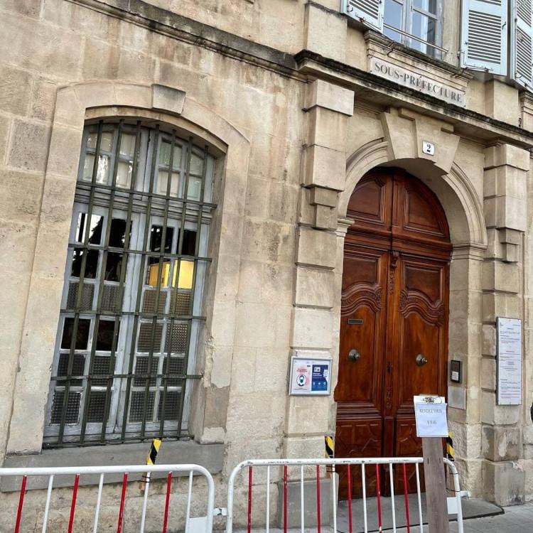14 Januari 2021 di Prefektur Arles, Prancis