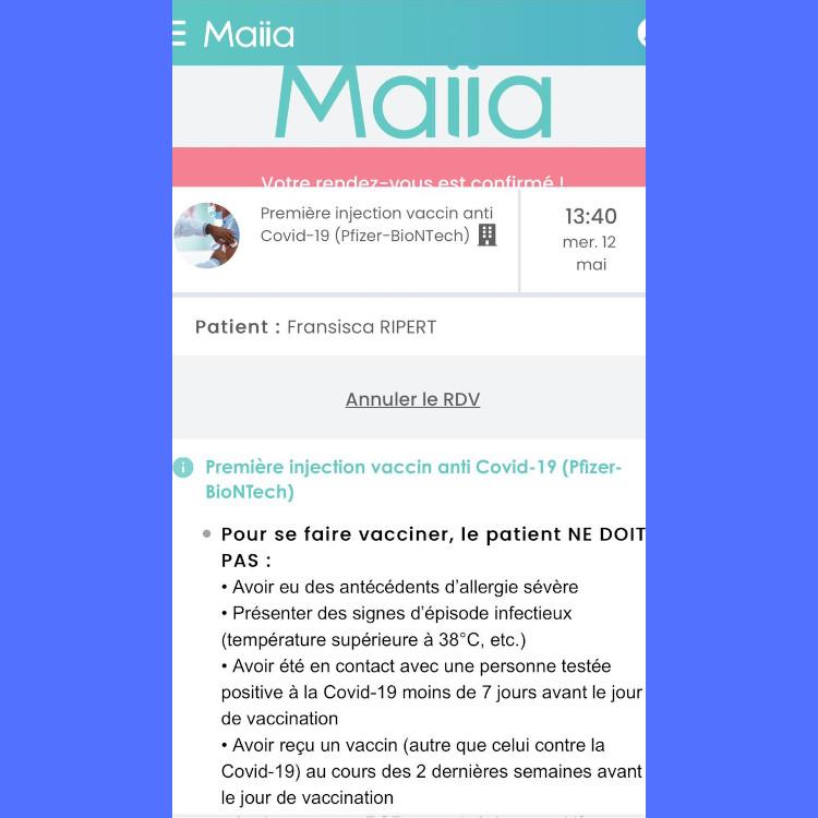 Email Konfirmasi terkait vaksinasi